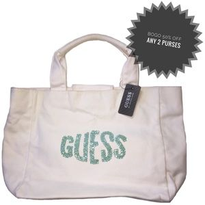 GUESS | NWT Sequin Canvas Tote Handbag